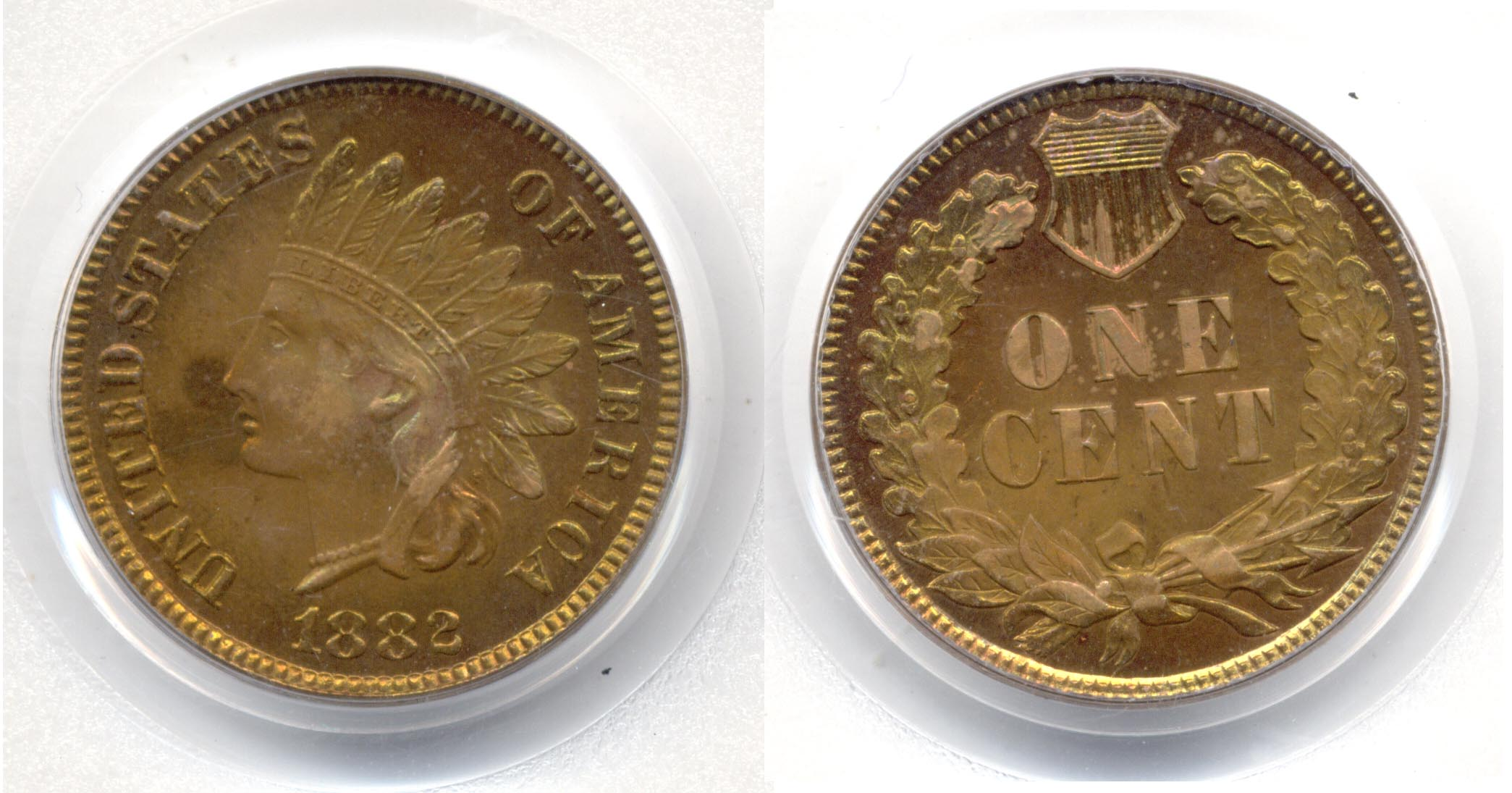 1882 Indian Head Cent PCGS Proof-66 Red Brown
