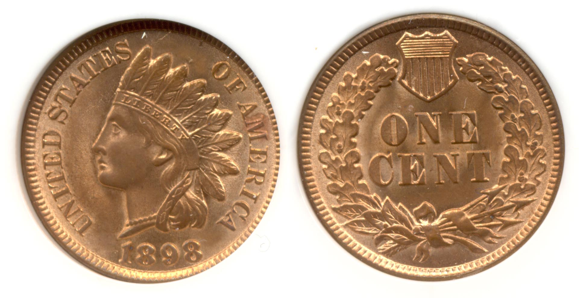 1898 Indian Head Cent PCI MS-64 Red