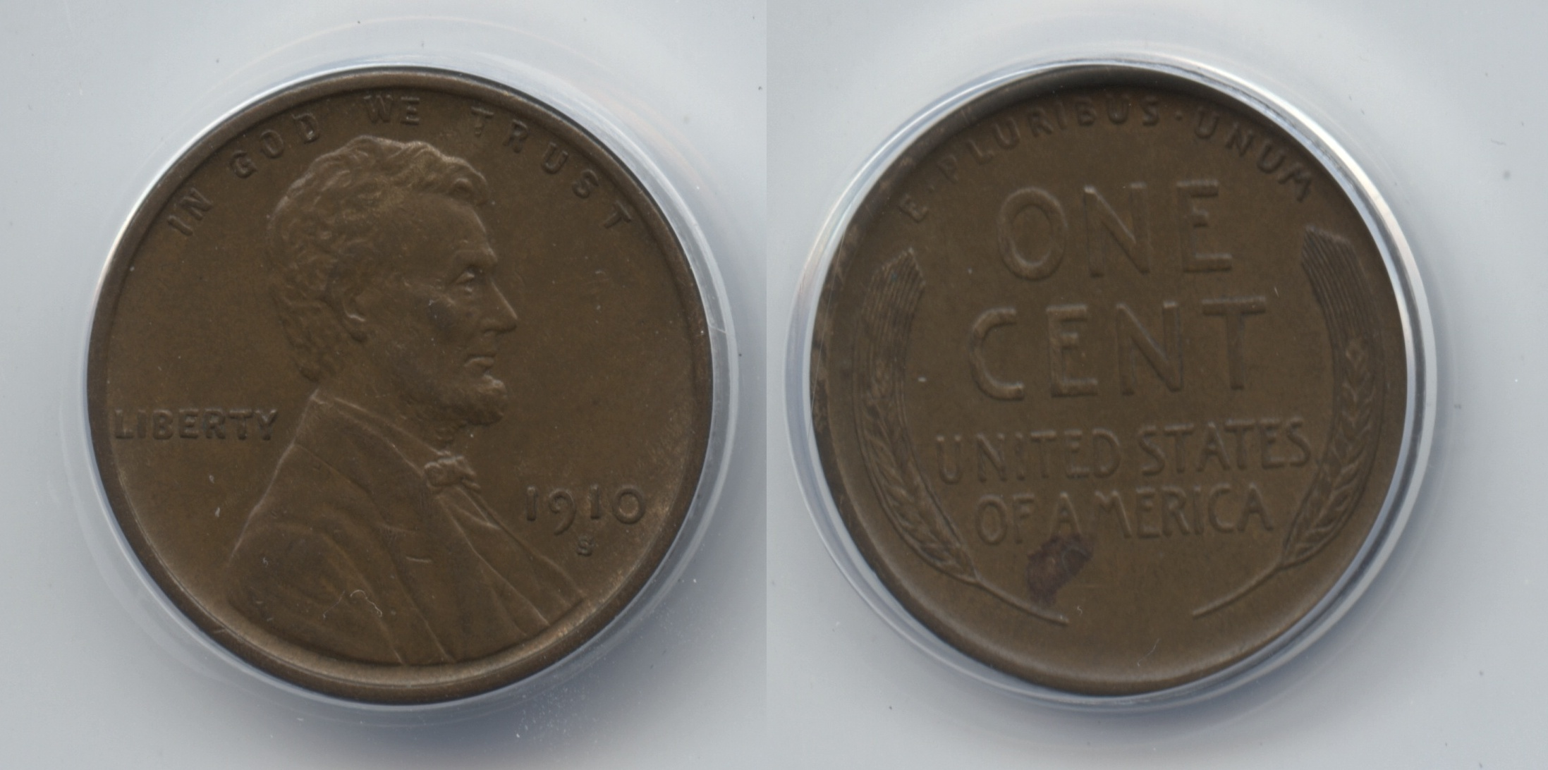 1910-S Lincoln Cent ANACS AU-50
