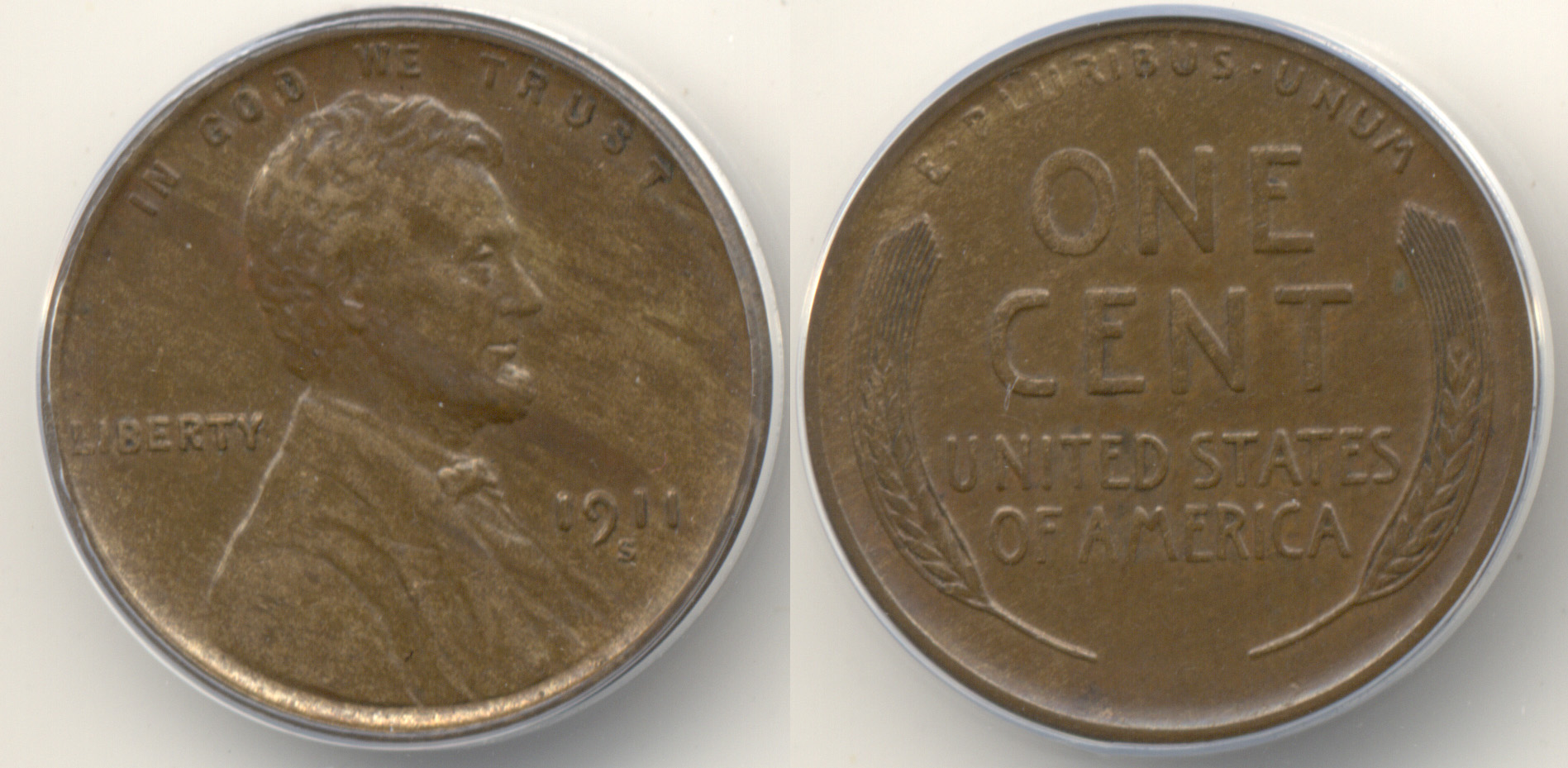 1911-S Lincoln Cent ANACS AU-55