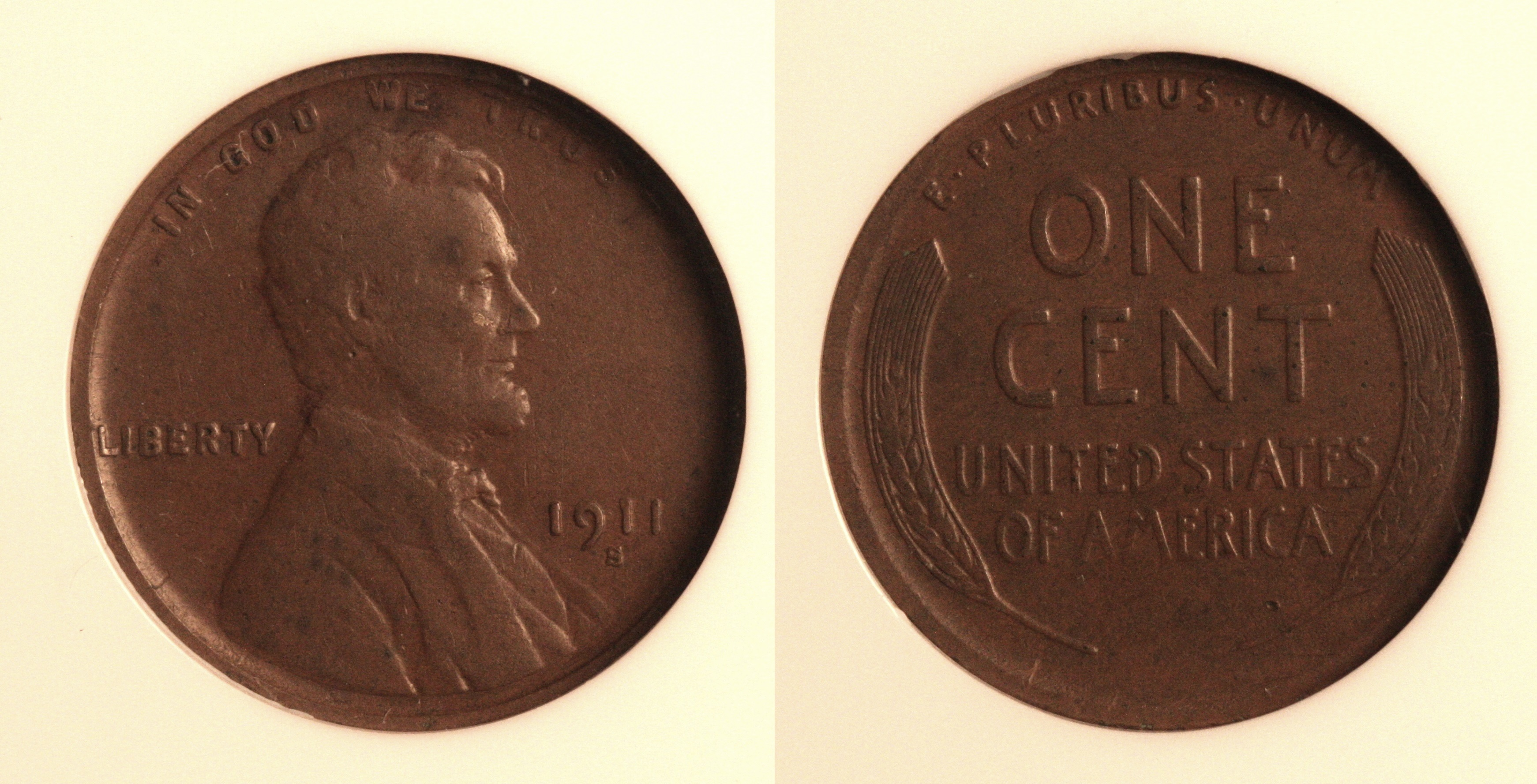 1911-S Lincoln Cent NGC VF-20 camera