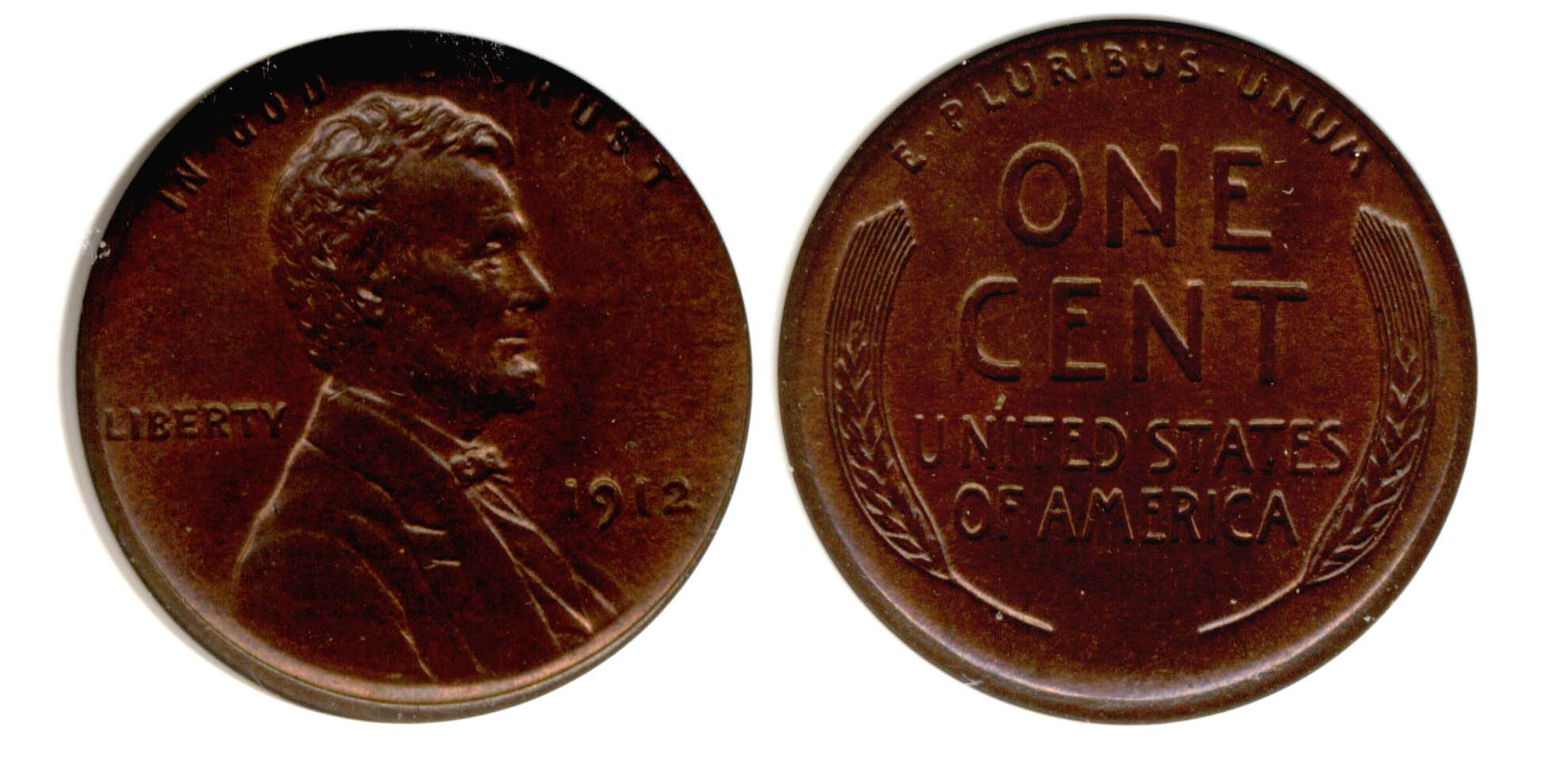 1912 Lincoln Cent PCI MS-64 Red Brown