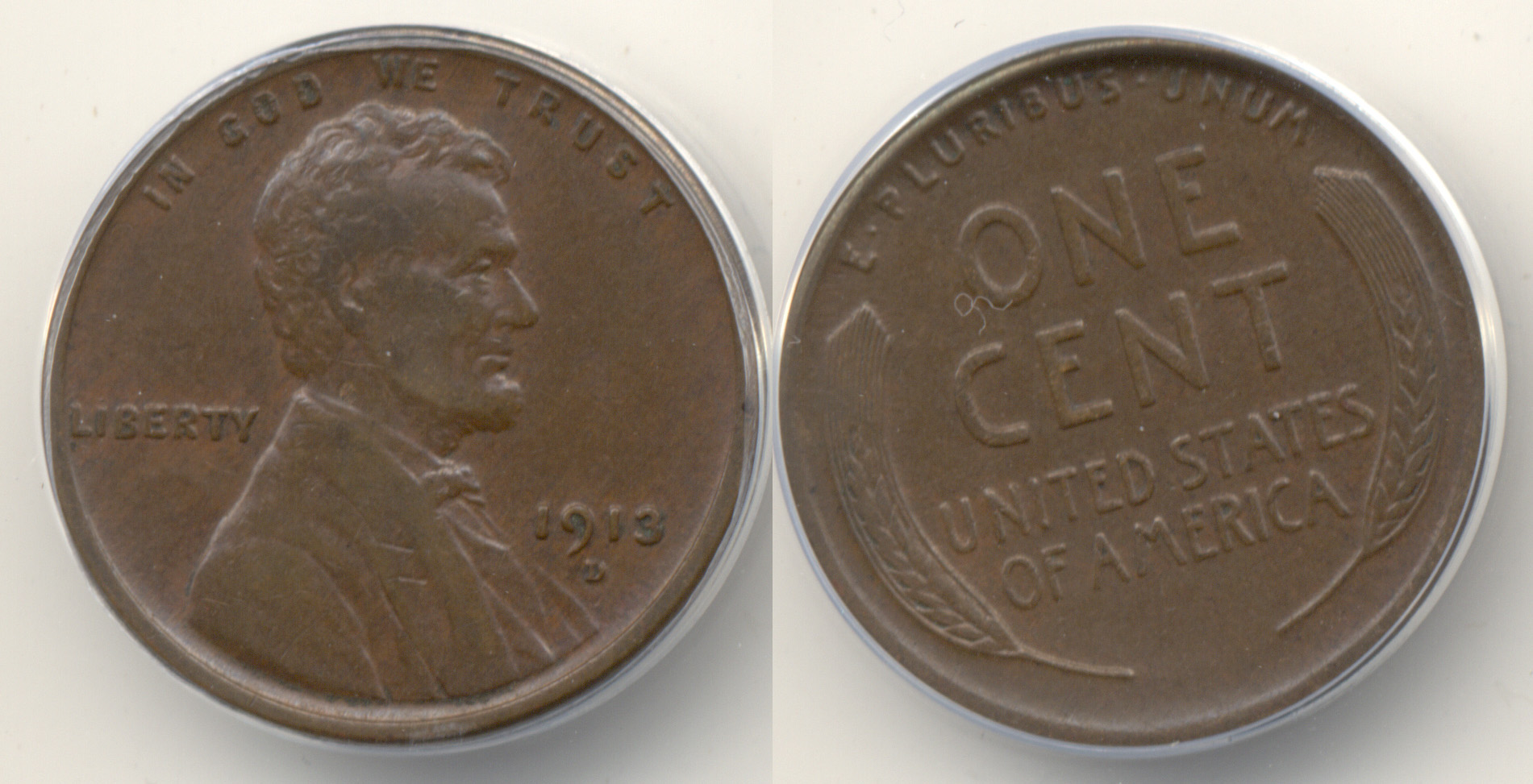 1913-D Lincoln Cent ANACS EF-40
