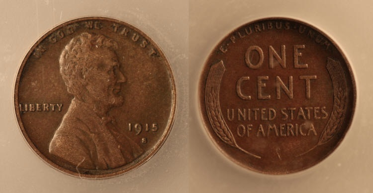 1915-S Lincoln Cent ICG AU-50 camera small