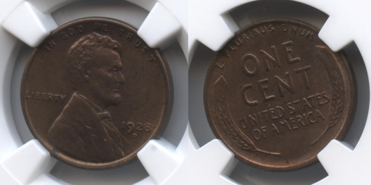 1928-D Lincoln Cent NGC MS-63 RB small
