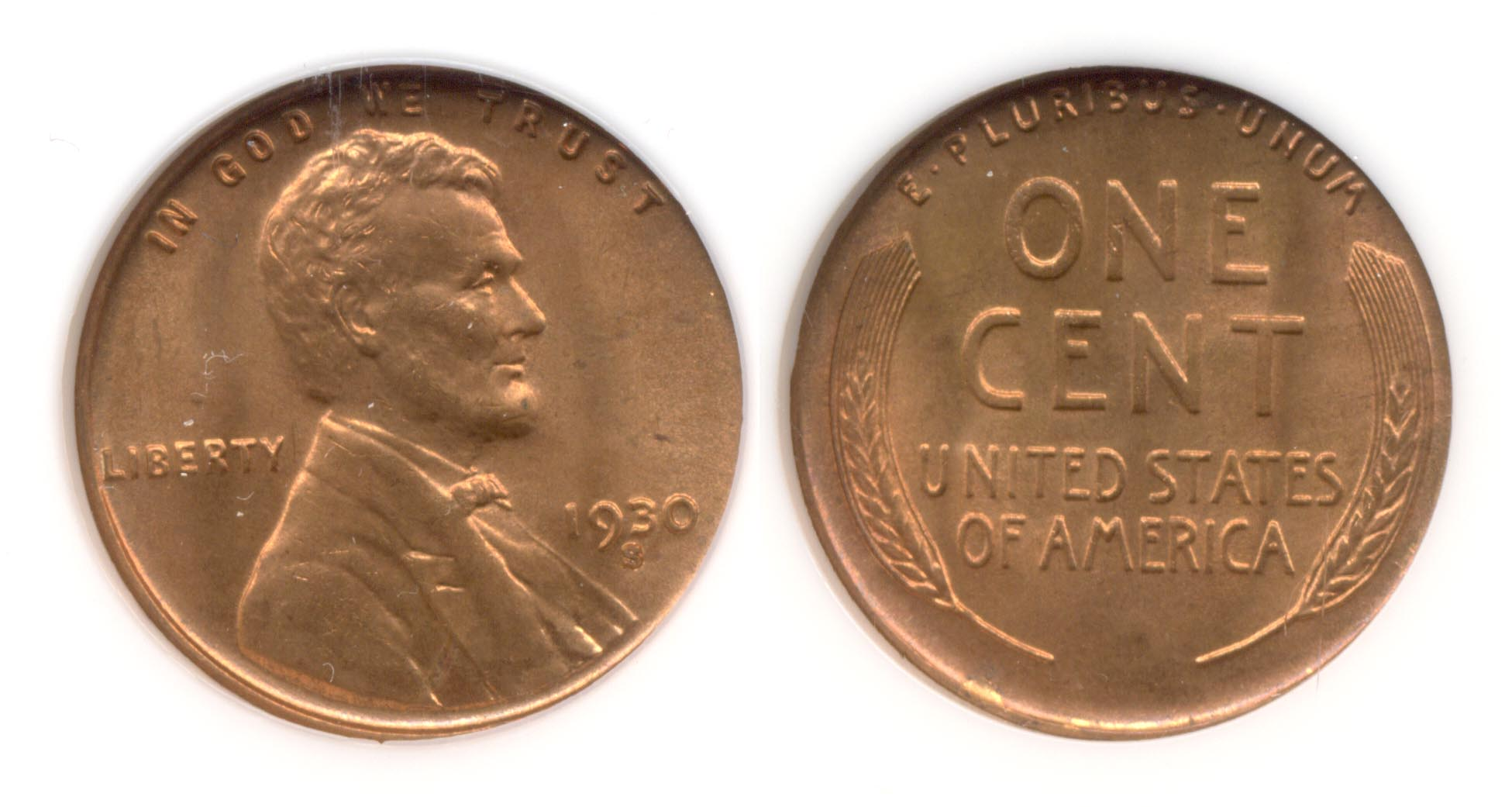 1930-S Lincoln Cent NGC MS-65 Red