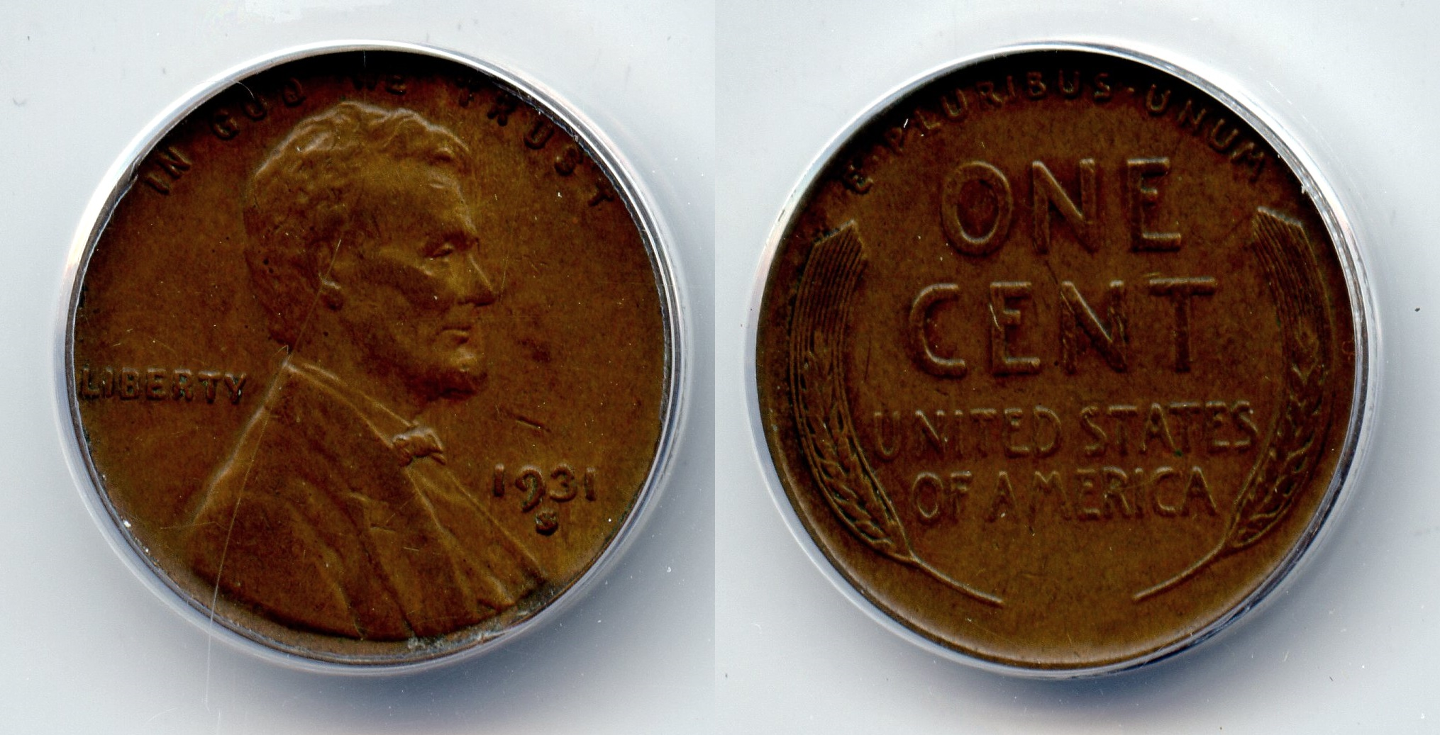 1931-S Lincoln Cent ANACS EF-40 #a