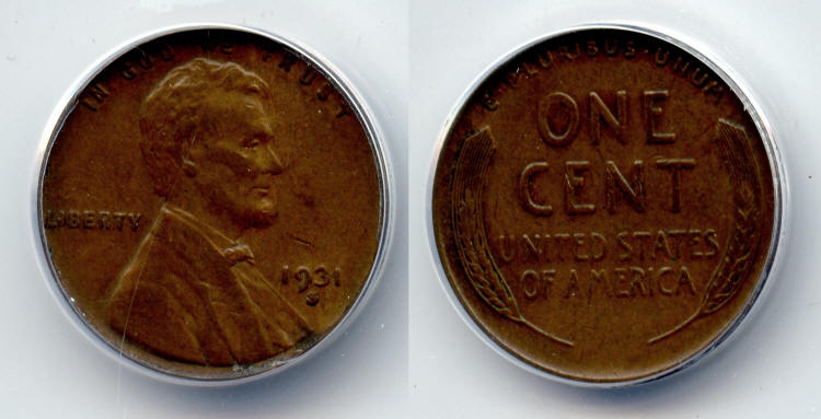 1931-S Lincoln Cent ANACS EF-40 #a small