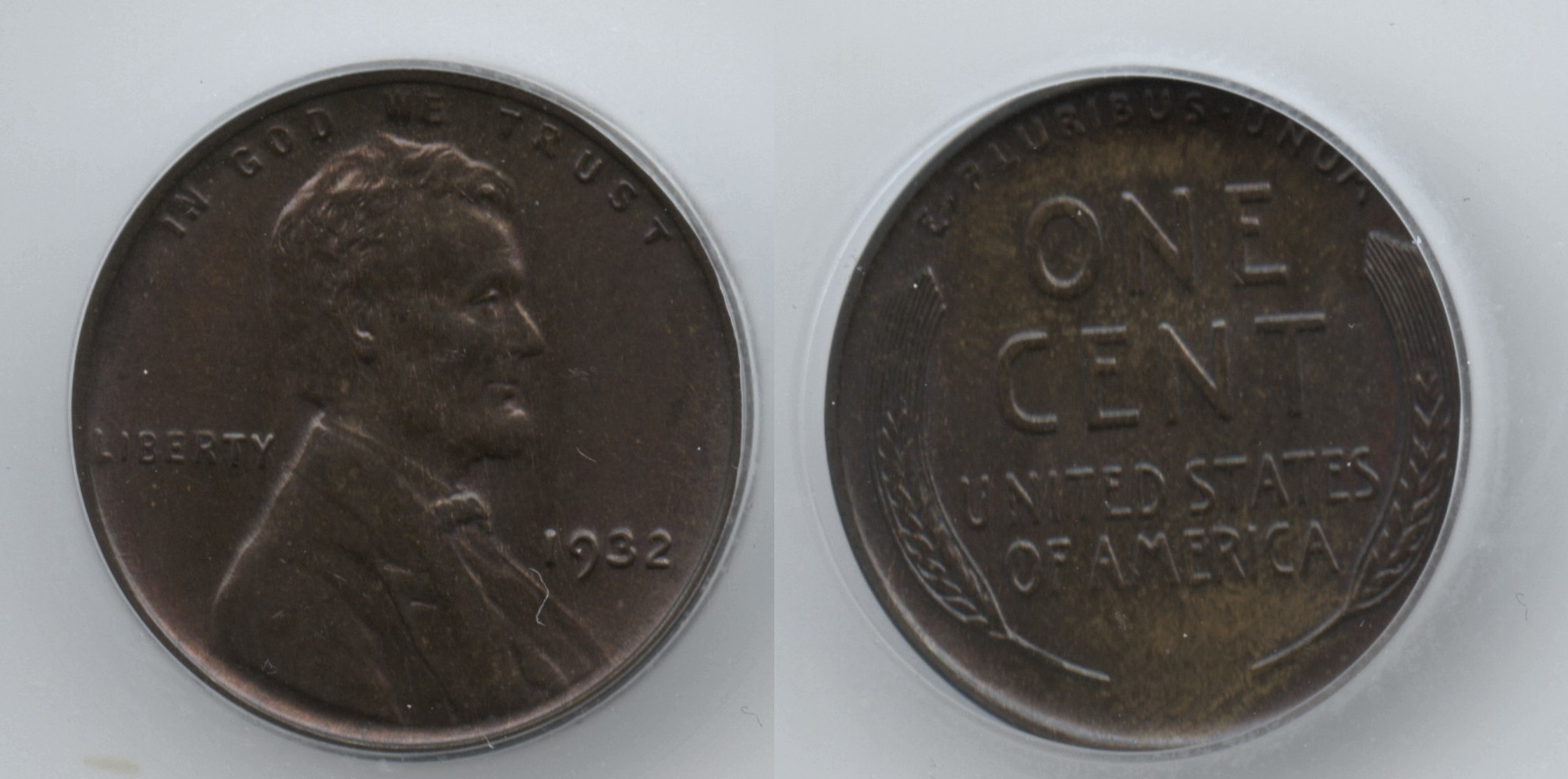 1932 Lincoln Cent ICG MS-65 Brown