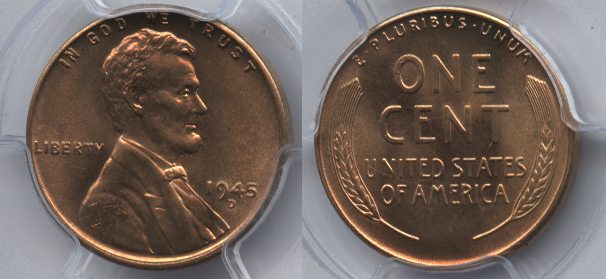 1945-D Lincoln Cent PCGS MS-66 Red