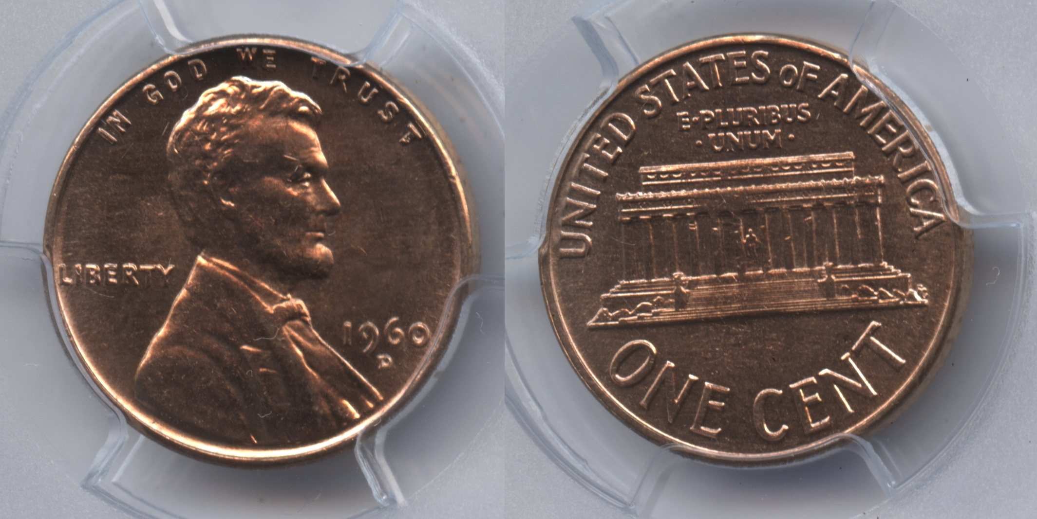 1960-D Small Date Lincoln Cent PCGS MS-63 Red #j