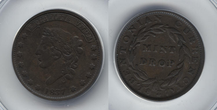 1837 HT-62 Hard Times Token ANACS VF-25 small