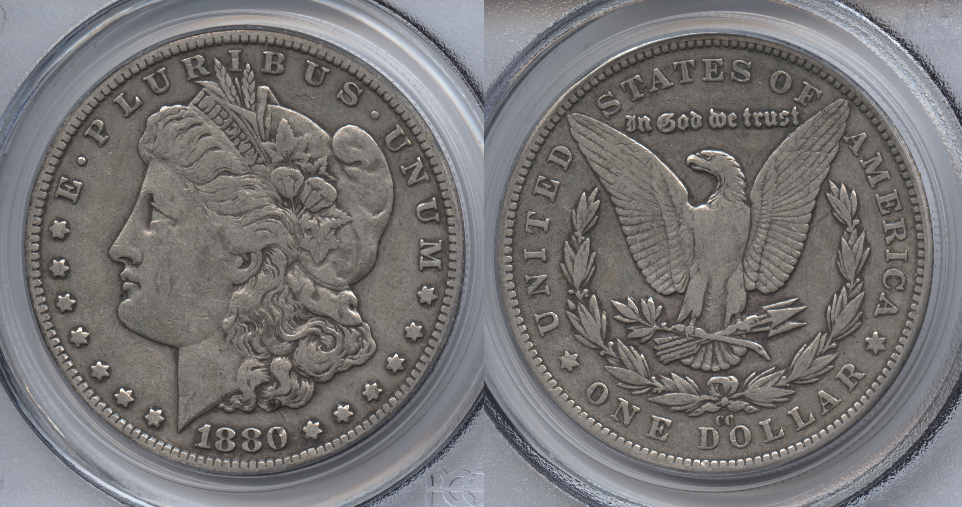 1880-CC Morgan Silver Dollar PCGS VF-30