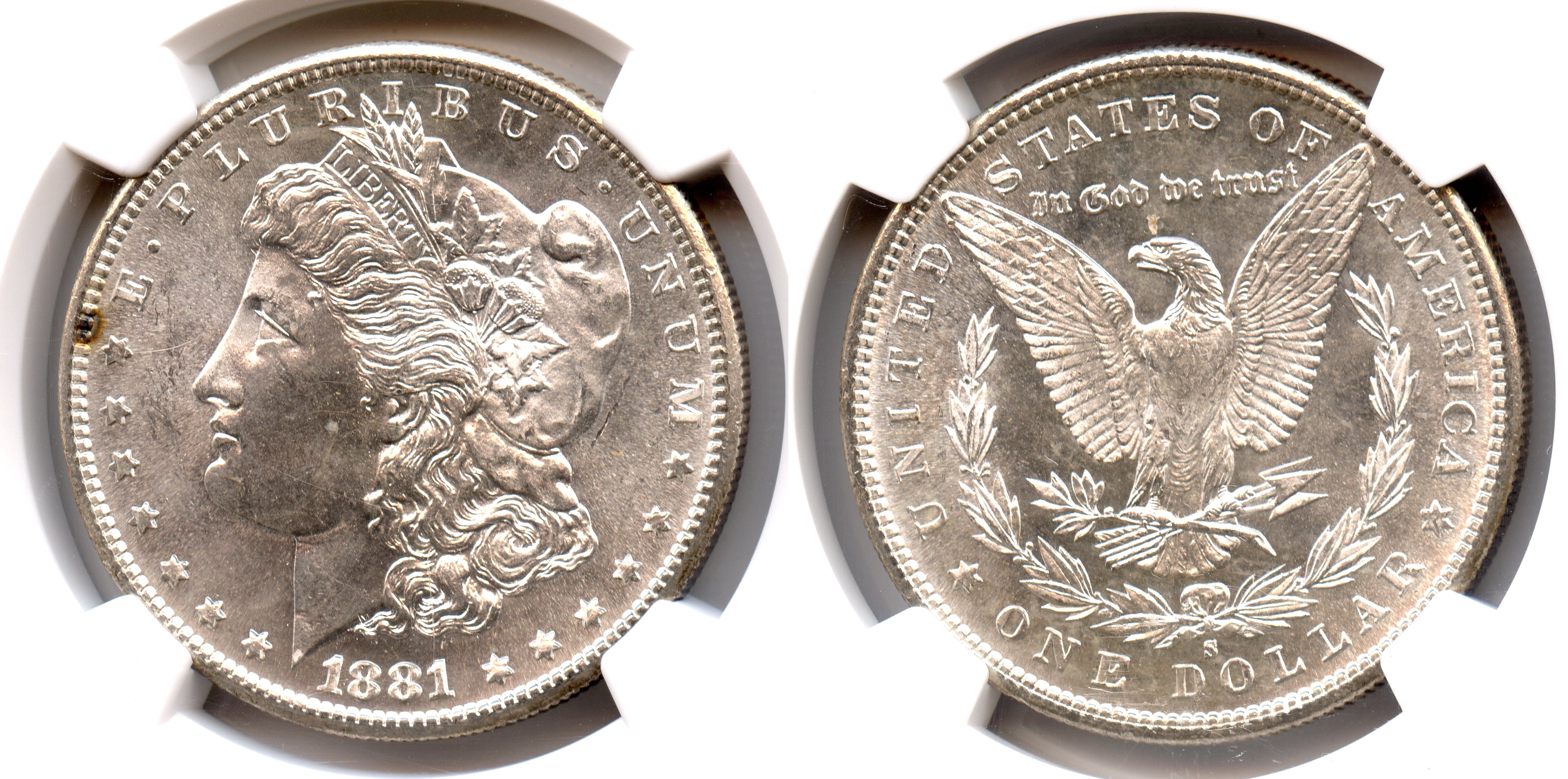 1881-S Morgan Silver Dollar NGC MS-64