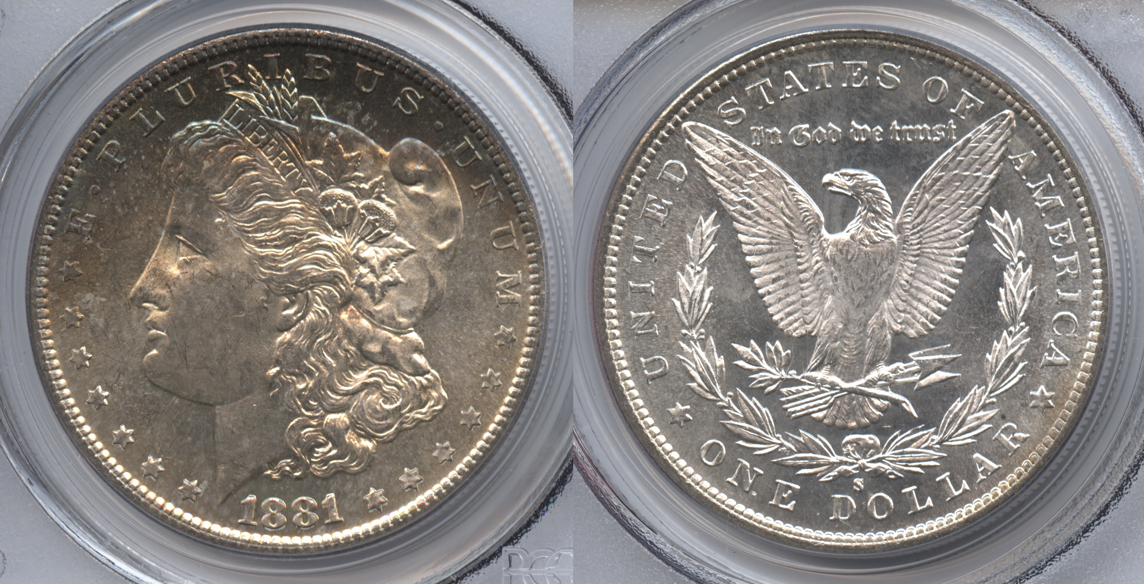 1881-S Morgan Silver Dollar PCGS MS-64 #d