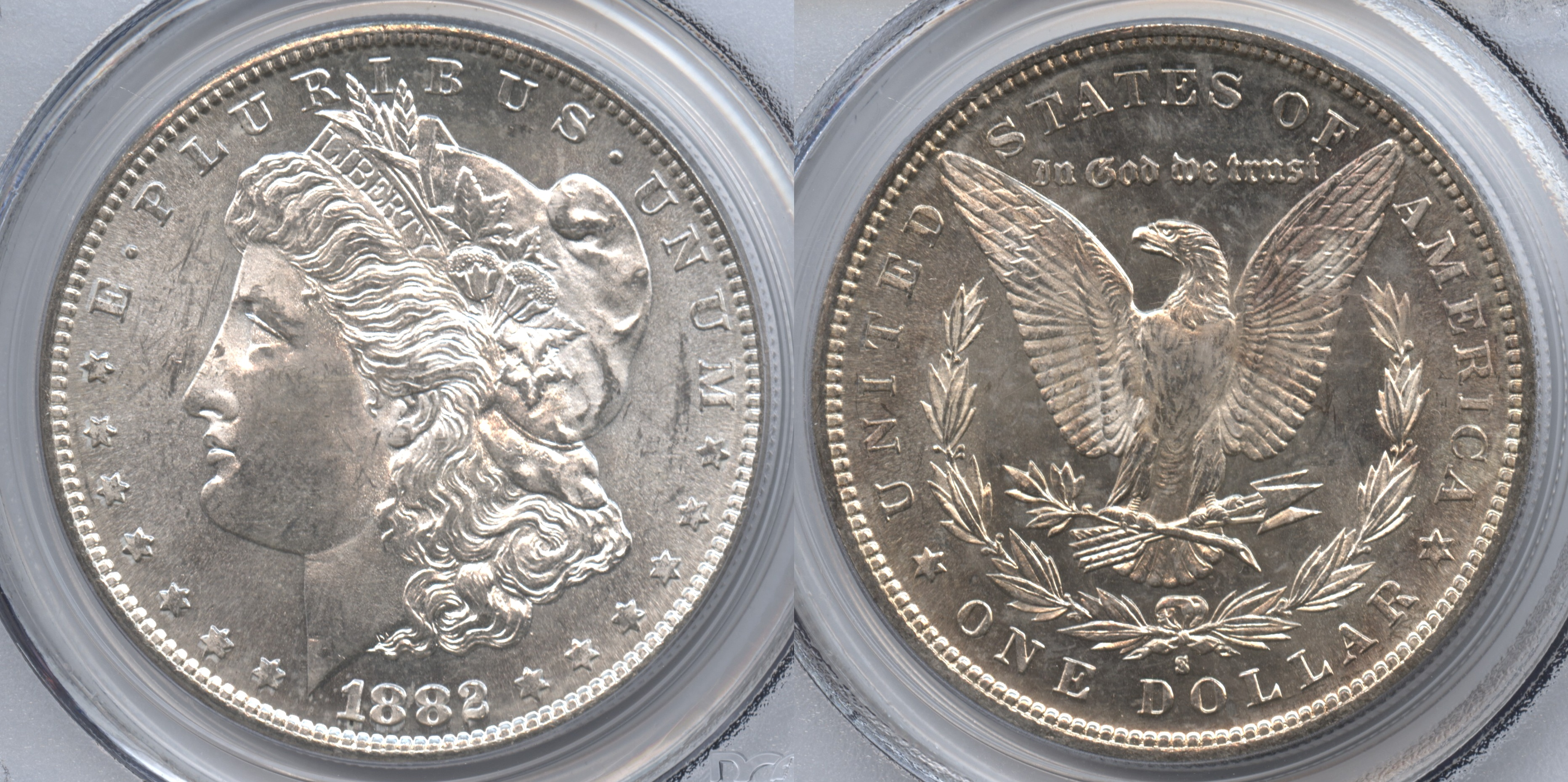 1882-S Morgan Silver Dollar PCGS MS-64 #a VAM-5 Doubled Date