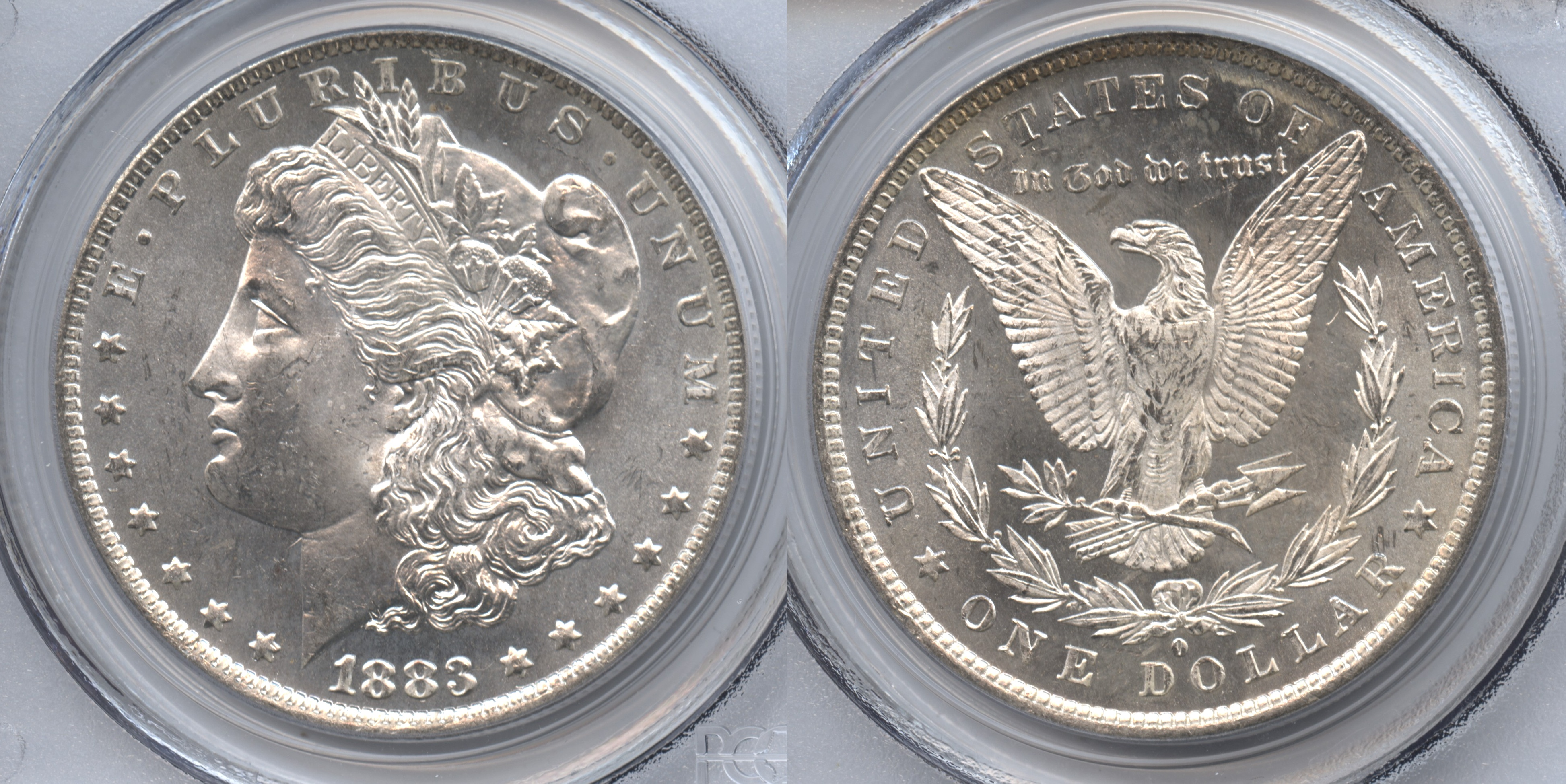 1883-O Morgan Silver Dollar PCGS MS-64 #a VAM-30, Dash Under 8, O Tilted Right