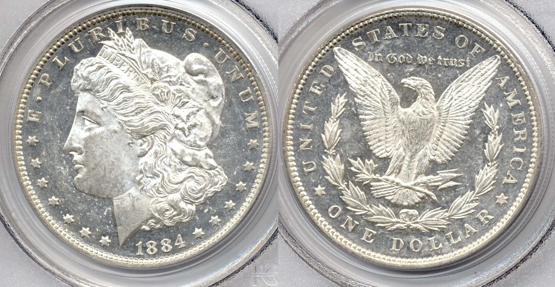 1884 Morgan Silver Dollar PCGS MS-62 DMPL