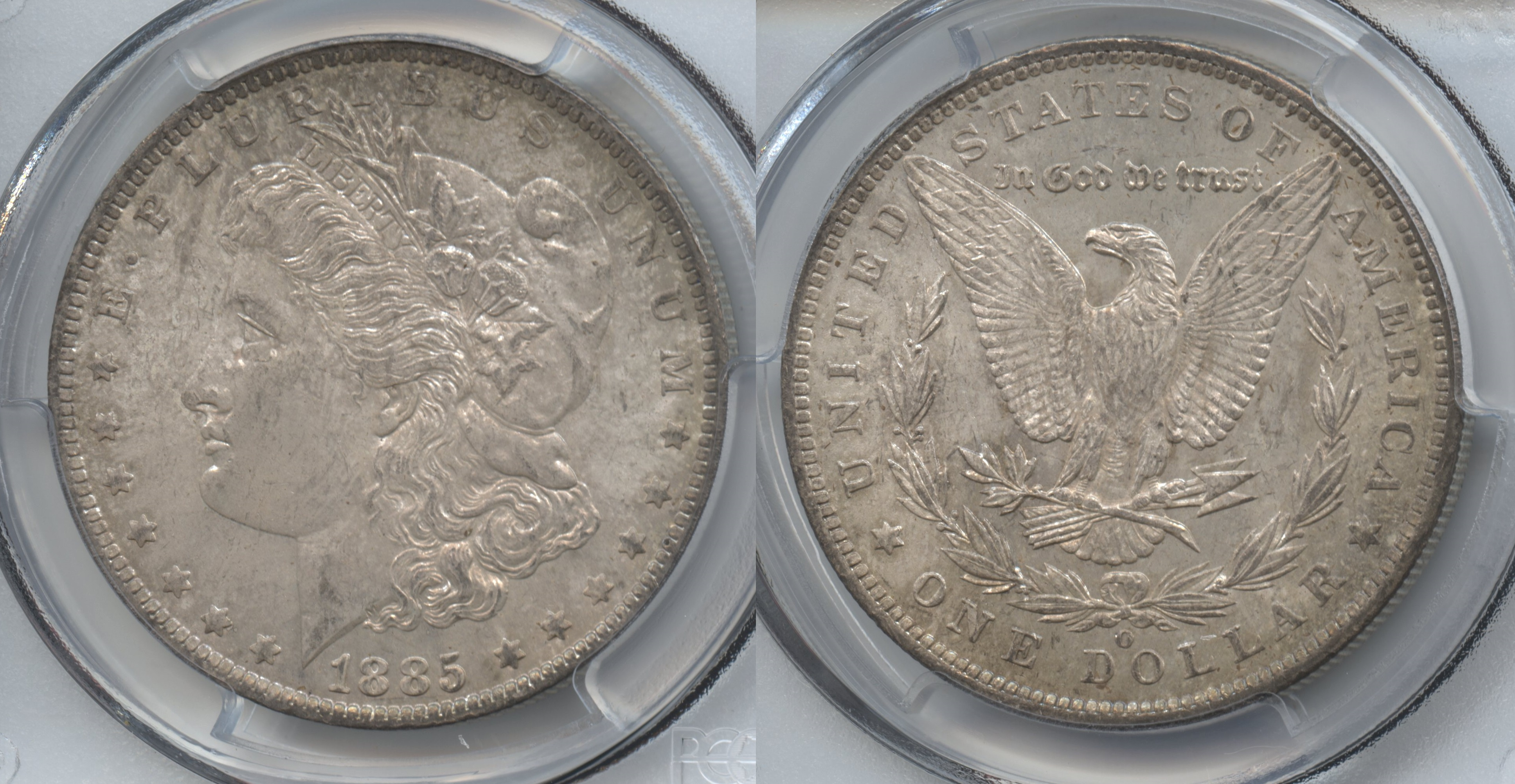 1885-O Morgan Silver Dollar PCGS MS-63 #a