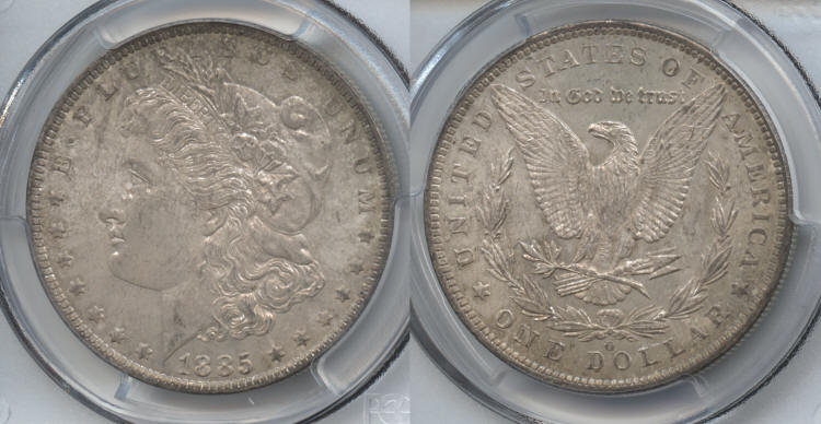 1885-O Morgan Silver Dollar PCGS MS-63 #a small