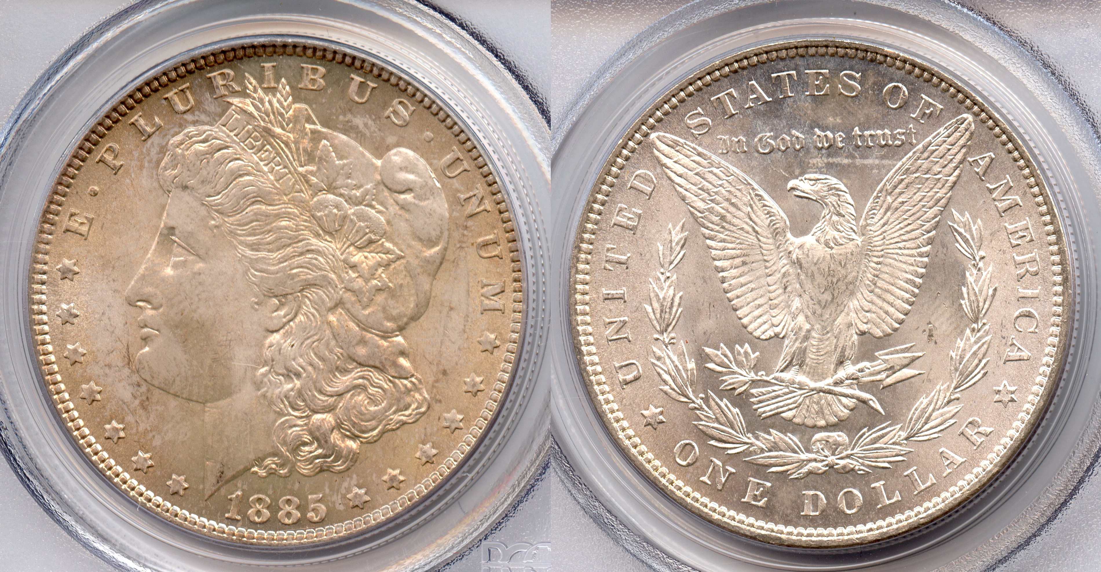 1885 Morgan Silver Dollar PCGS MS-64