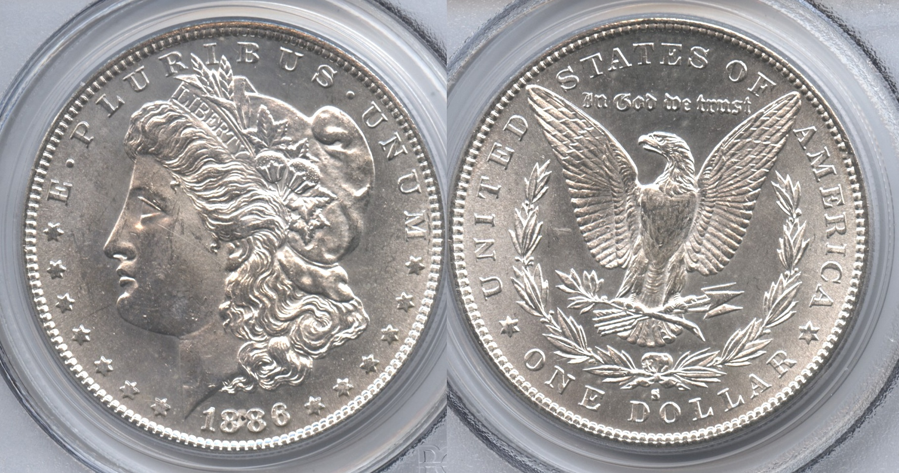 1886-S Morgan Silver Dollar PCGS MS-63