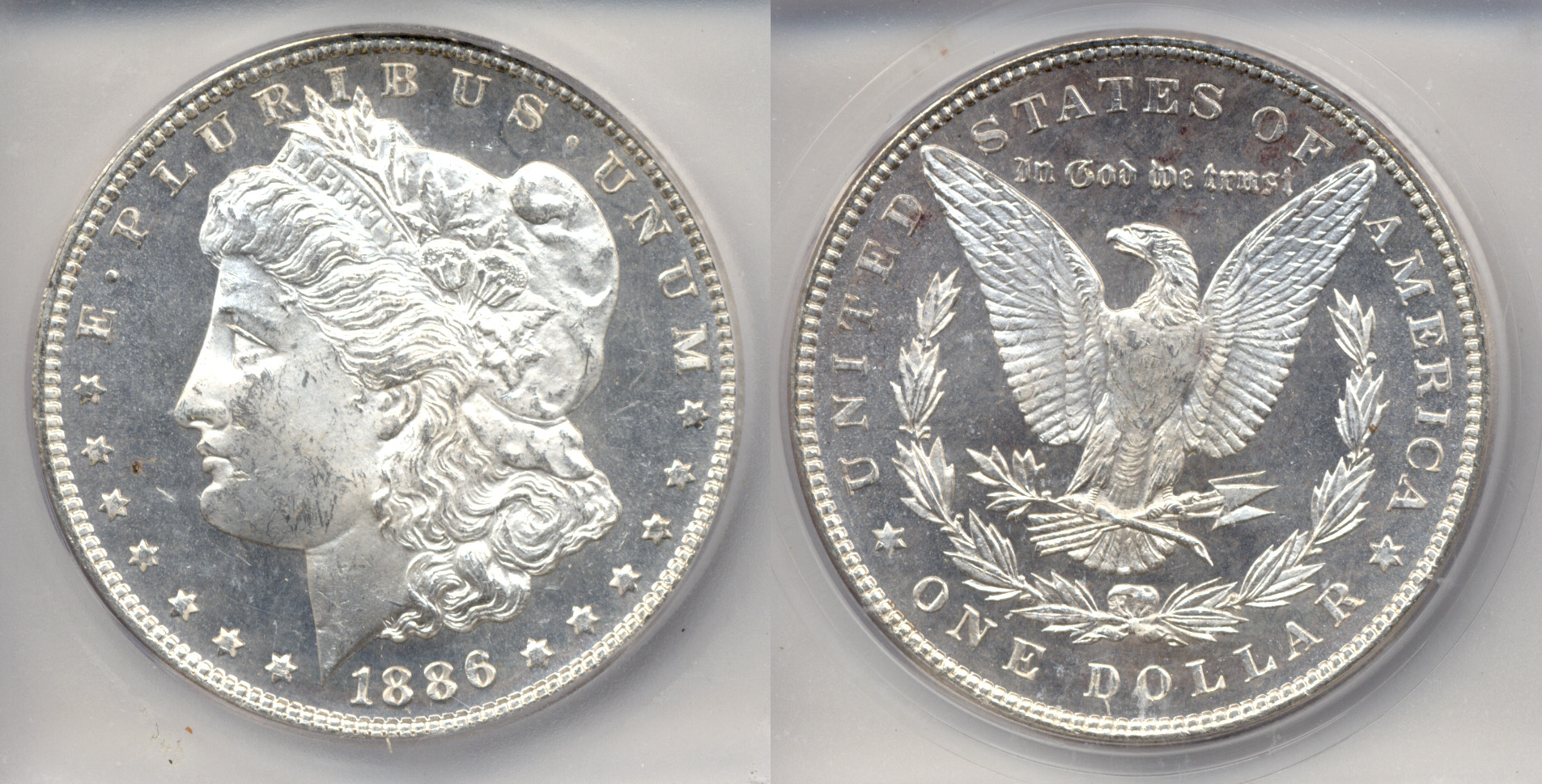 1886 Morgan Silver Dollar ICG MS-64 Deep Mirror Proof Like