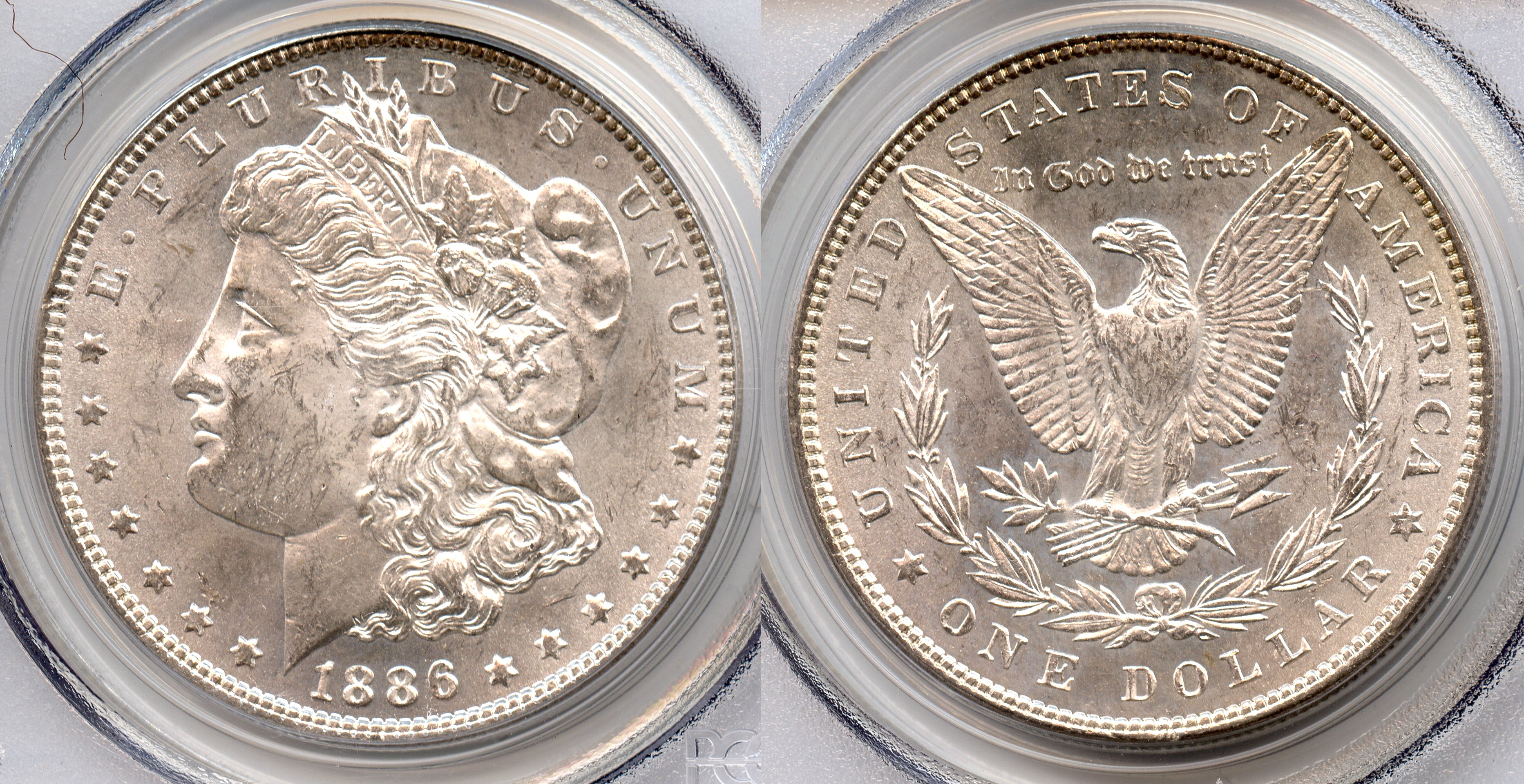 1886 Morgan Silver Dollar PCGS MS-63 #a