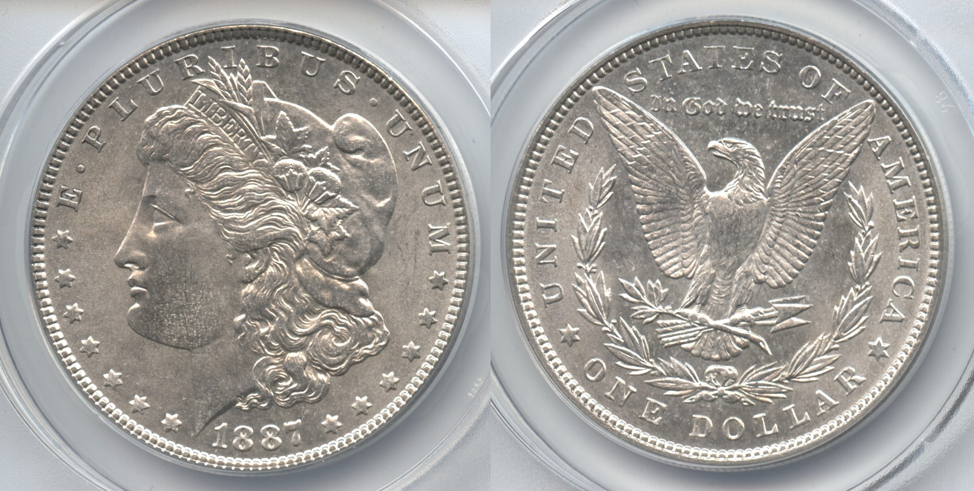 1887 Morgan Silver Dollar ANACS MS-64
