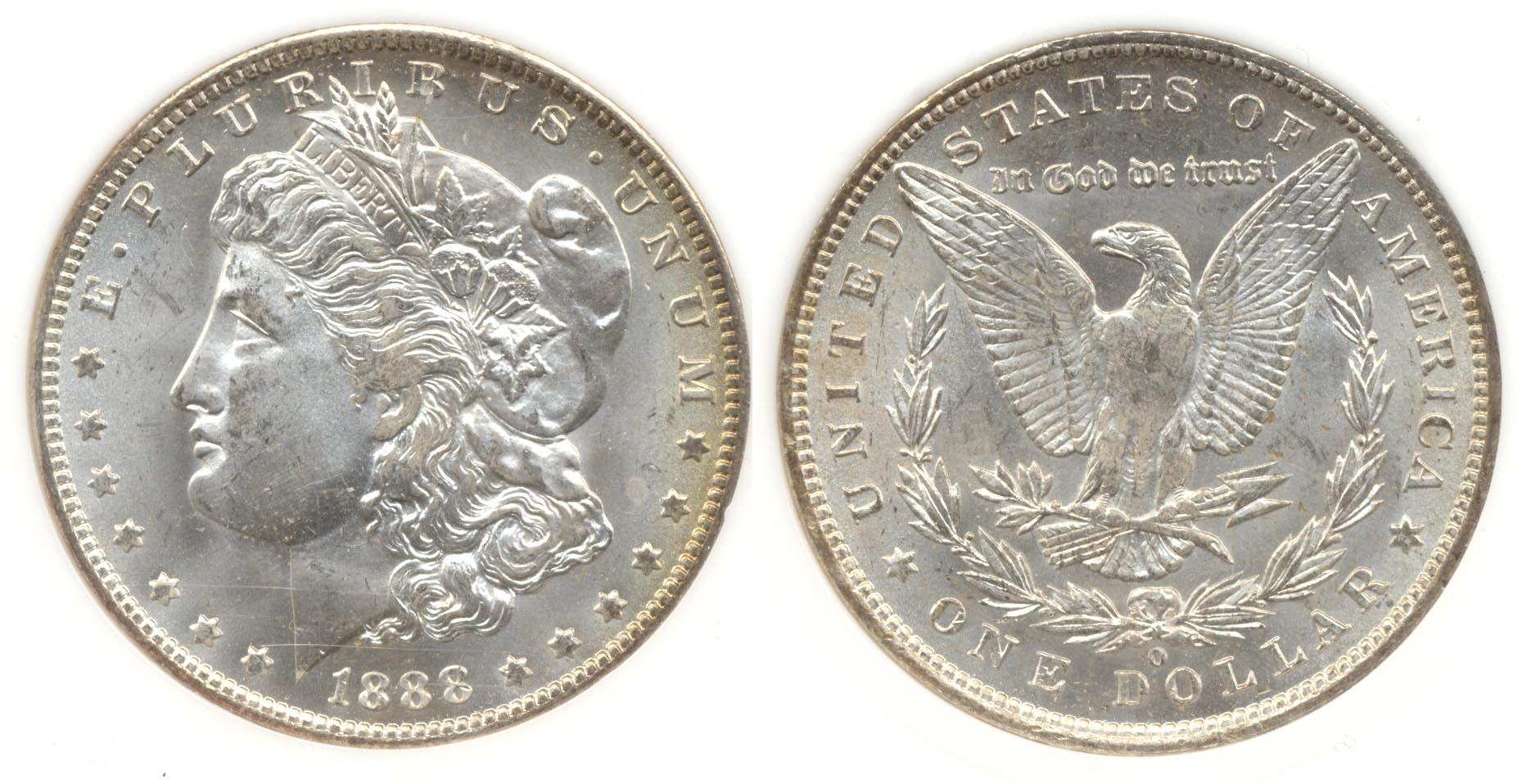 1888-O Morgan Silver Dollar PCI MS-65