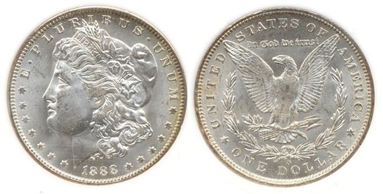 1888-O Morgan Silver Dollar PCI MS-65 small