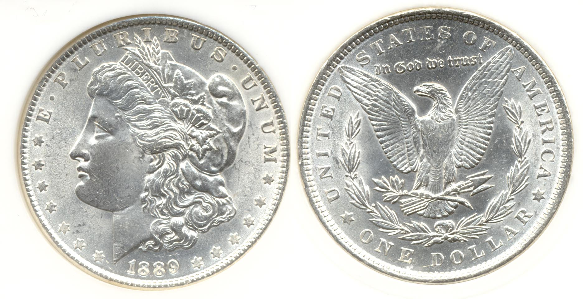 1889 Morgan Silver Dollar PCI MS-64 PQ