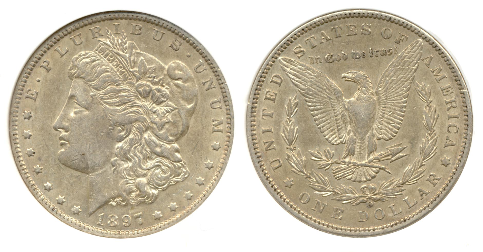 1897-O Morgan Silver Dollar PCI AU-50