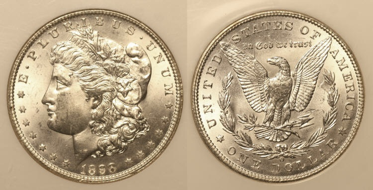 1898-O Morgan Silver Dollar NGC MS-64 camera small