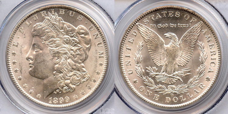 1899-O Morgan Silver Dollar PCGS MS-63 small