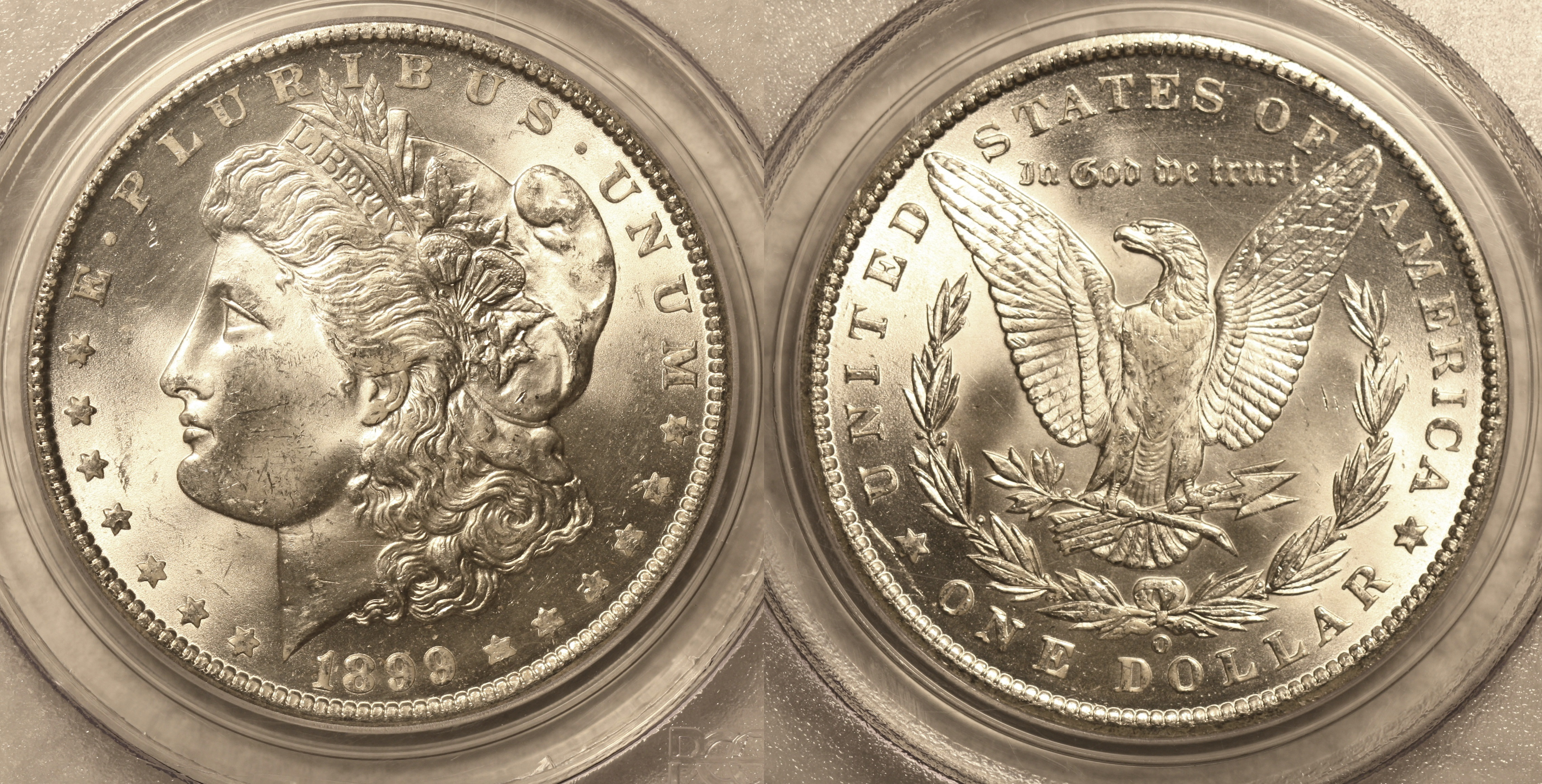1899-O Morgan Silver Dollar PCGS MS-63 camera