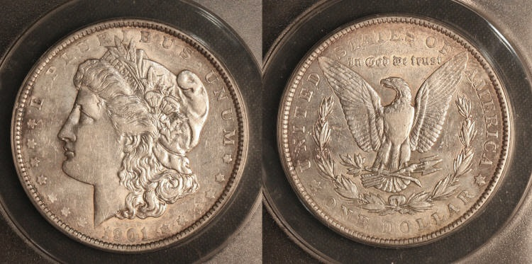 1901 Morgan Silver Dollar ANACS AU-50 #a camera small