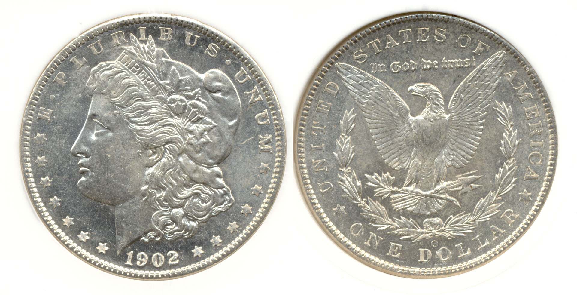 1902-O Morgan Silver Dollar in PCI MS-63 DMPL