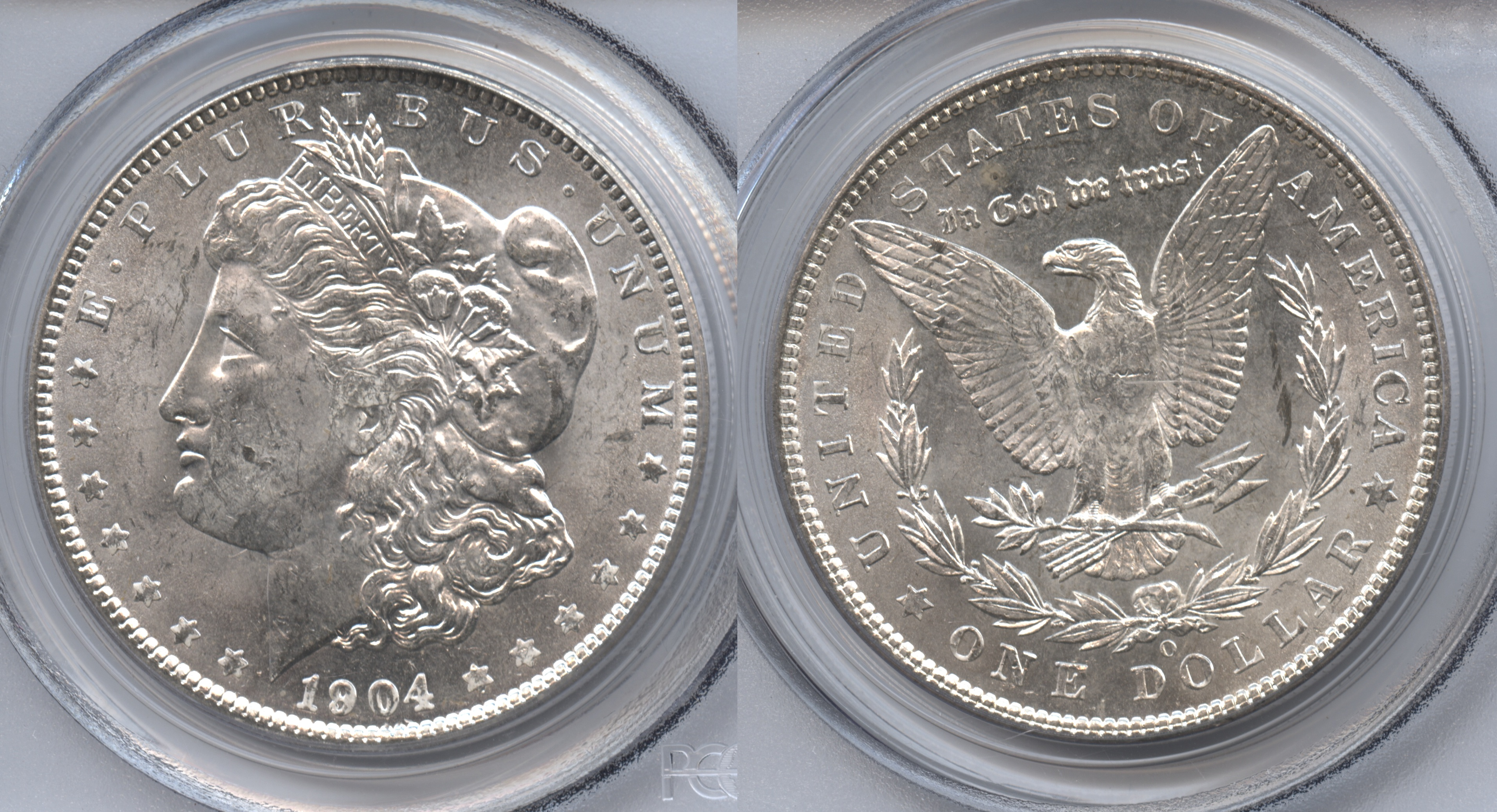 1904-O Morgan Silver Dollar PCGS MS-63 VAM-2A Clashed Obverse, O Tilted Left