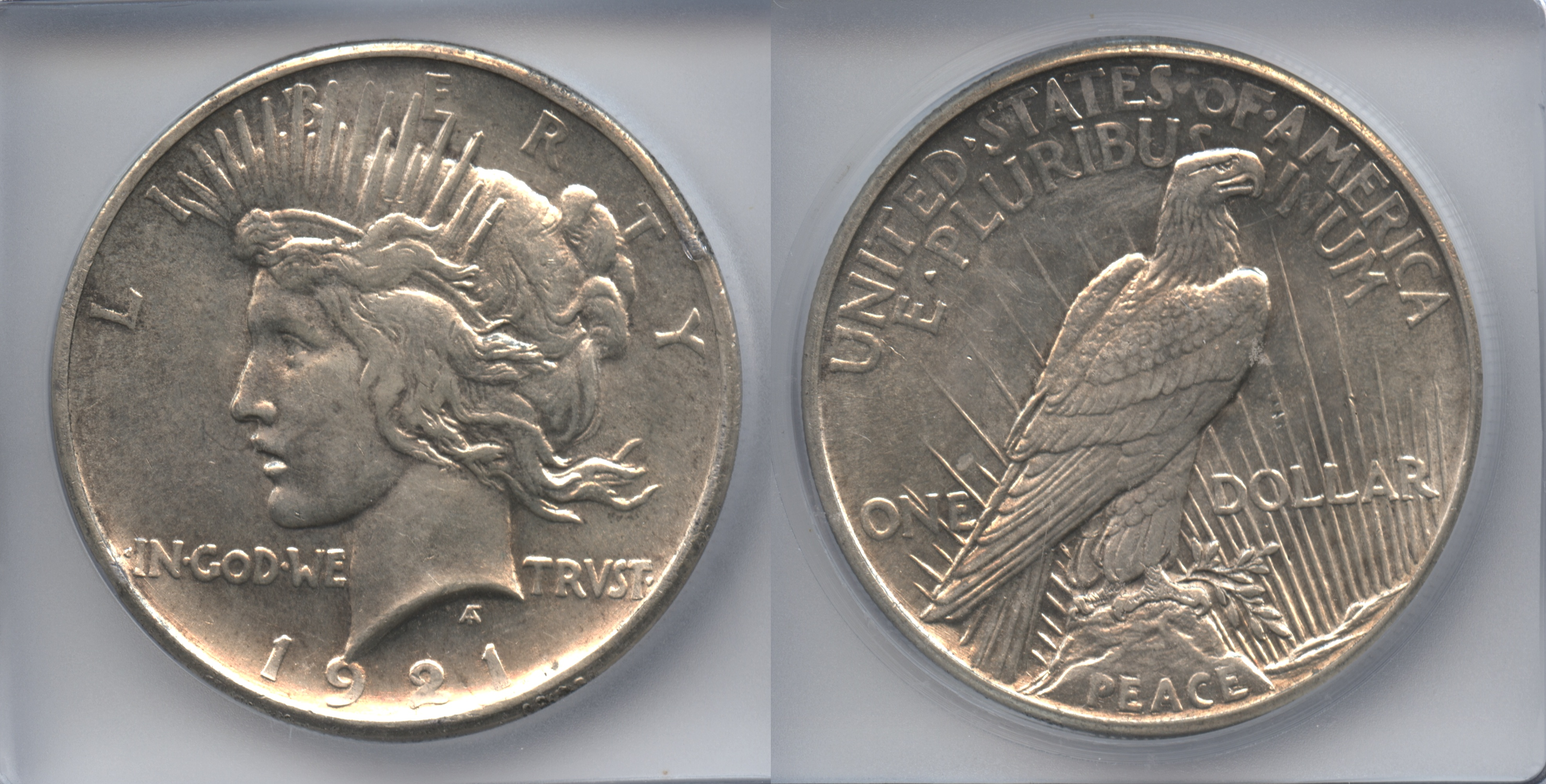 1921 Peace Silver Dollar ICG MS-61
