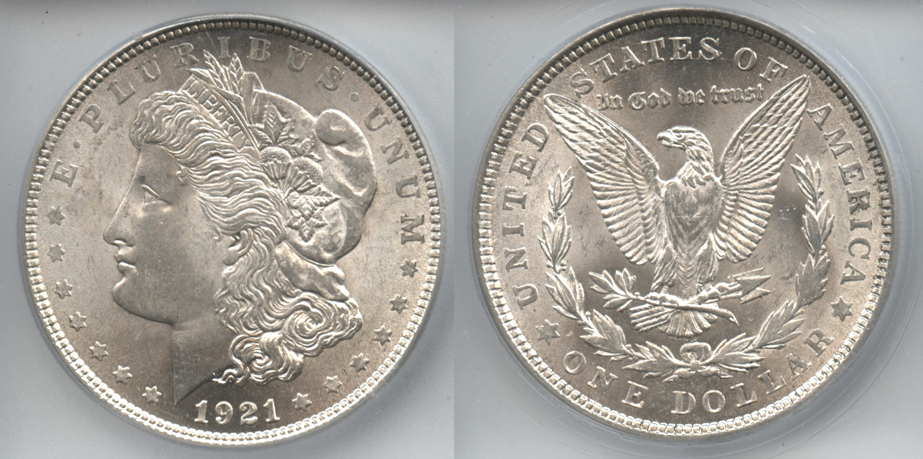 1921 Morgan Silver Dollar ICG MS-64