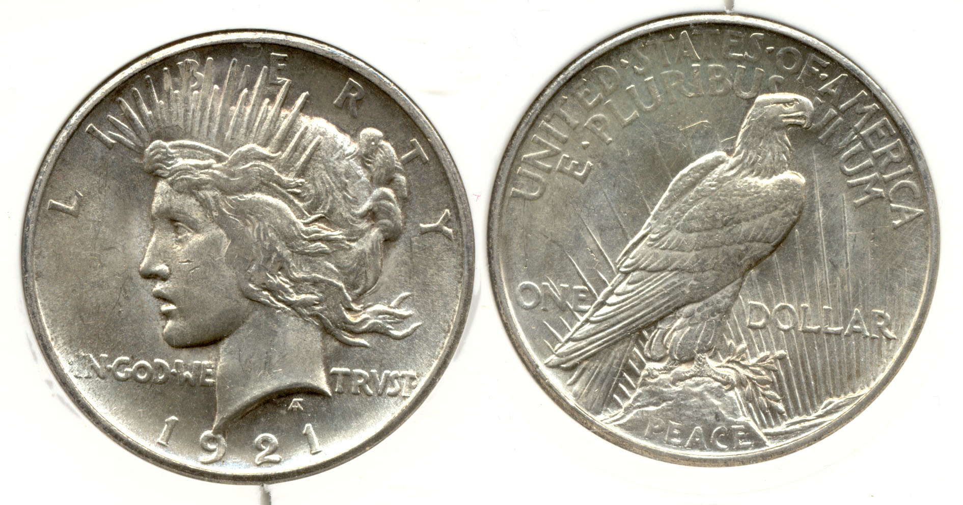 1921 Peace Silver Dollar in PCI MS-64