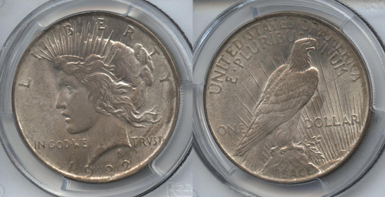 1922 Peace Silver Dollar PCGS MS-64 small