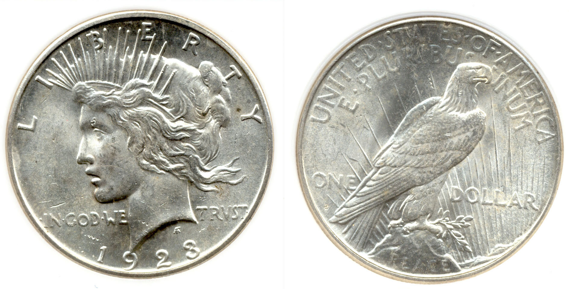 1923-S Peace Silver Dollar PCI MS-63