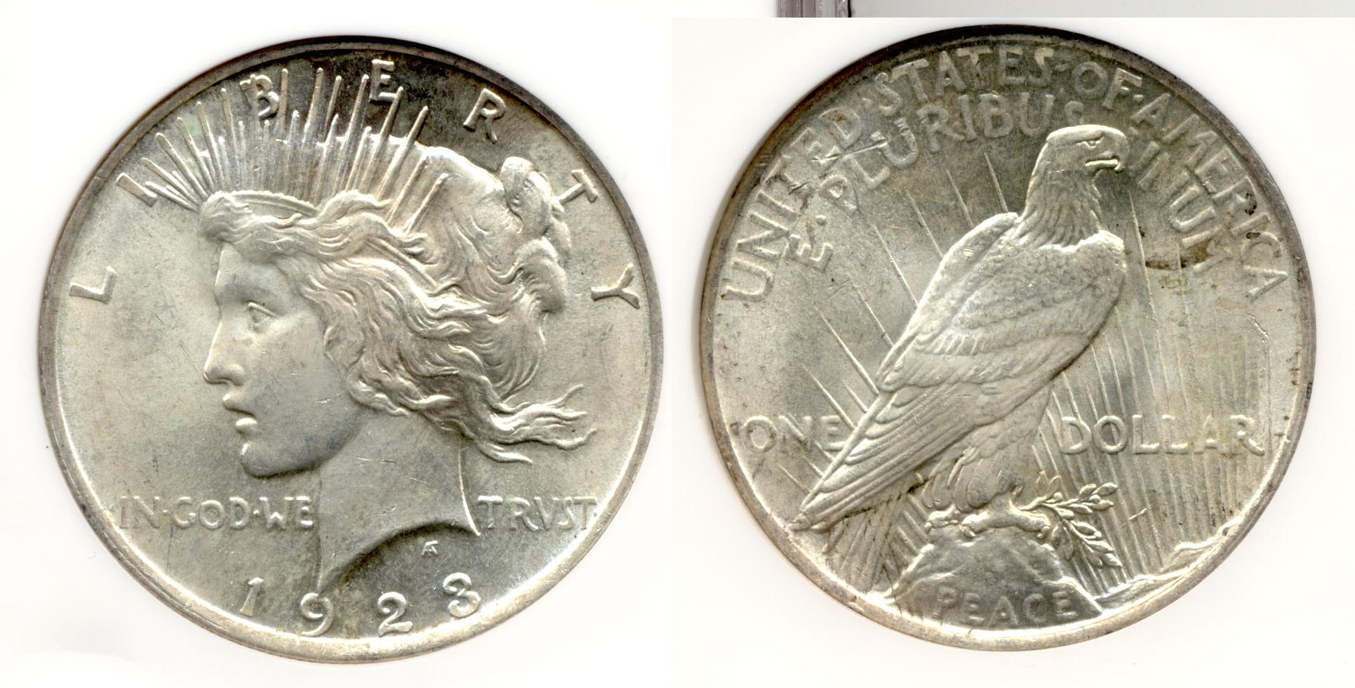 1923 Peace Silver Dollar NGC MS-63 a
