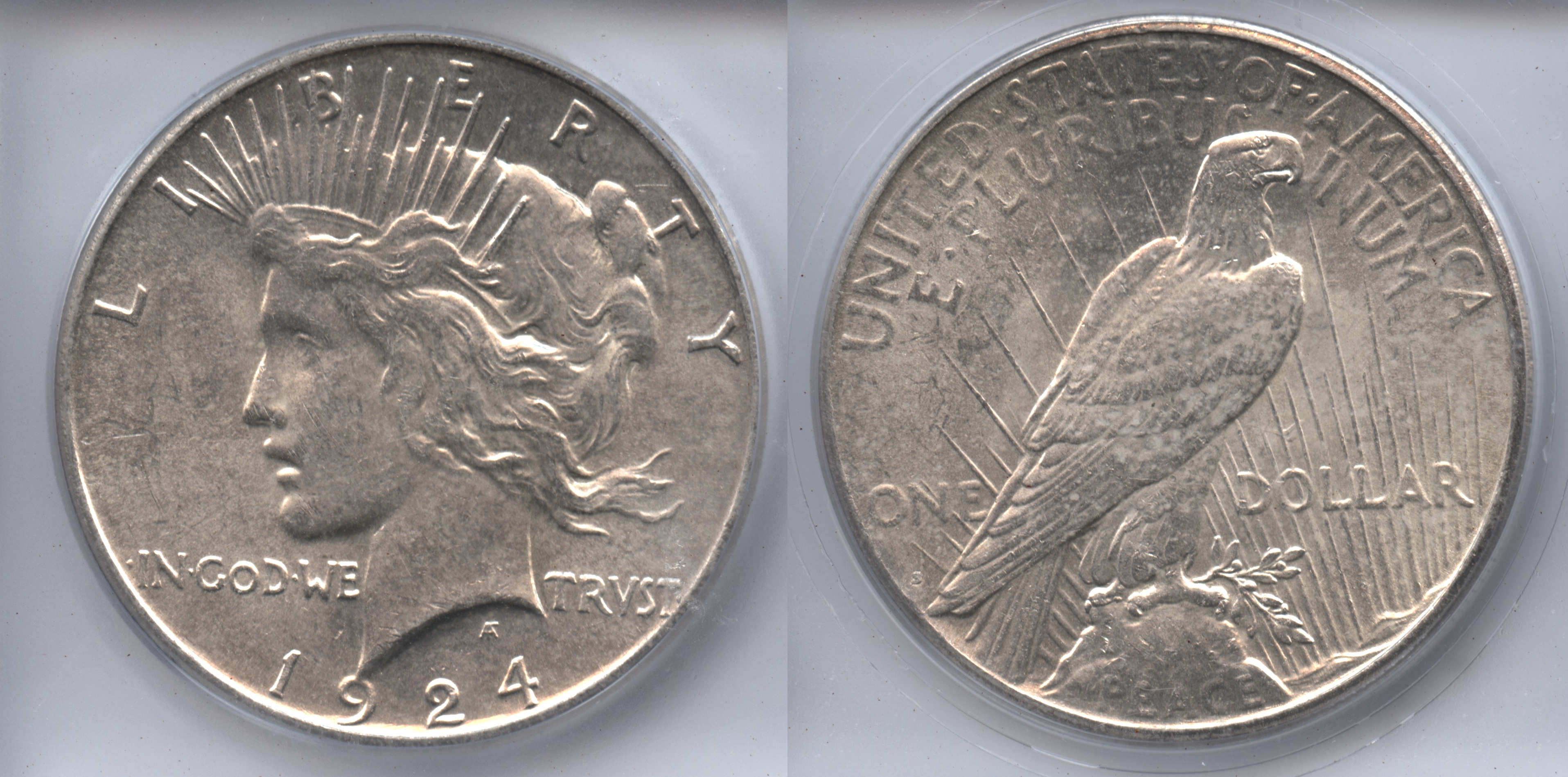 1924-S Peace Silver Dollar ICG MS-63