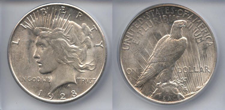 1928-S Peace Silver Dollar ICG MS-60 small