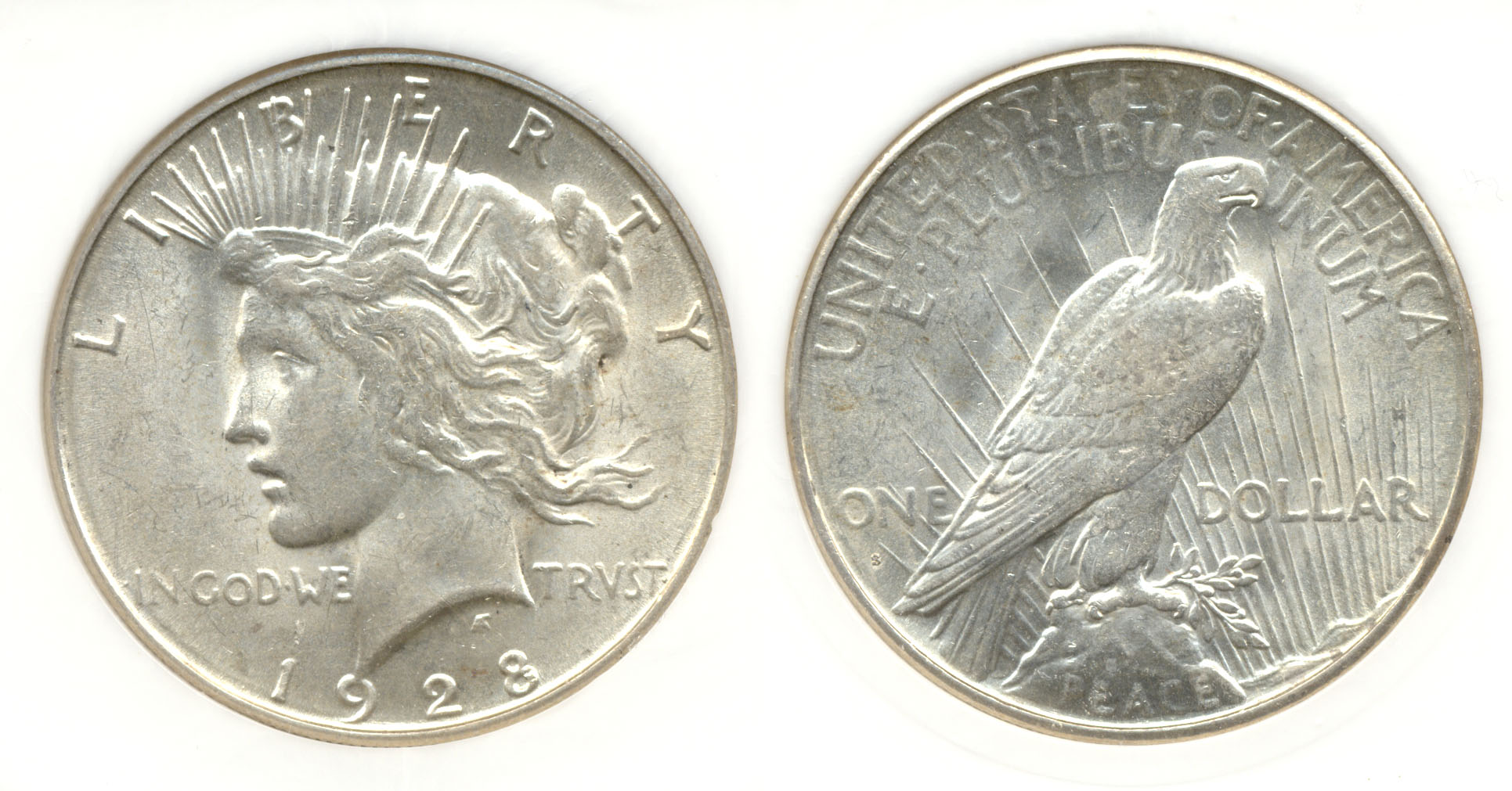 1928-S Peace Silver Dollar in PCI MS-62