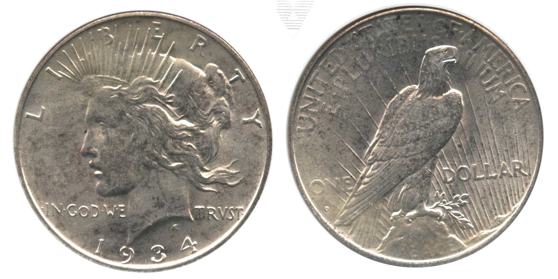 1934-D Peace Silver Dollar ANACS MS-63