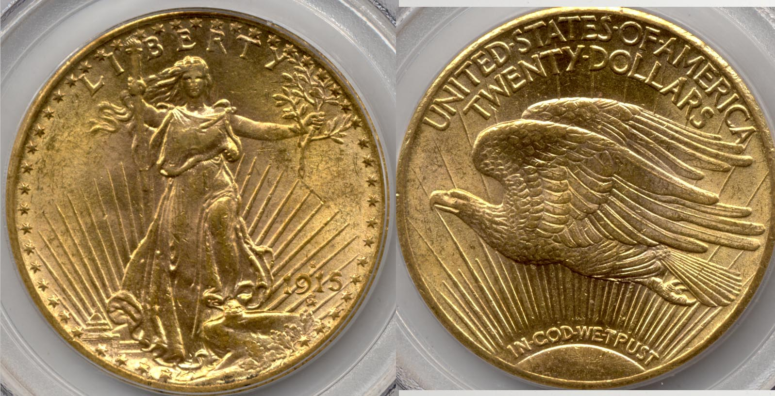1915-S Saint Gaudens Double Eagle PCGS MS-62